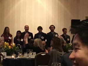 Students pose at ARCS dinner