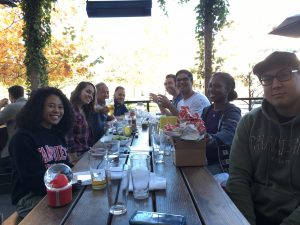 group photo at lunch